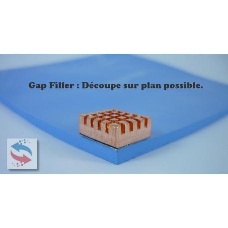 Matelas Adhesif 1 face - gappad gapfiller Pad Gap-Filler 2 W/mK - 40 °C a 150 °C Epaisseur 1.0 mm