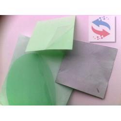 Film thermoconducteur soft silicone. renforce fibre de verre 3.5 W/mK Obsolete (EOL)- 50 C a 200 C Ep  0.13 mm